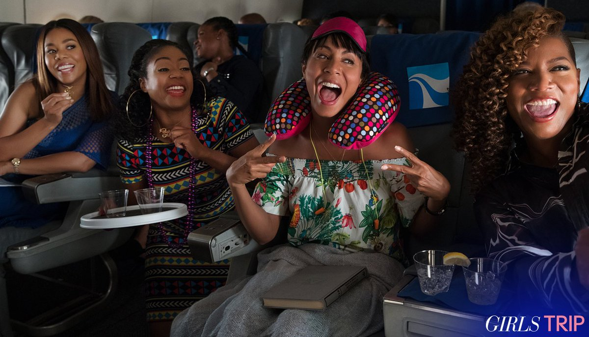 Nothing like a trip with your girls @jadapsmith @MoreReginaHall @TiffanyHaddish #GirlsTrip #fridayfeeling https://t.co/d1ifZl12g4