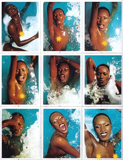 Happy Birthday Grace Jones Photographed by Antonio Lopez - Paris, 1975