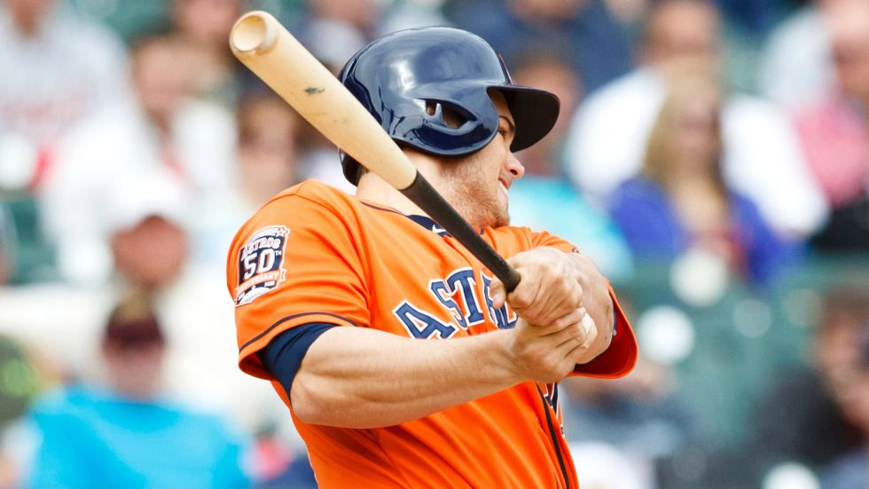 5/21/2015: #Astros rookie Preston Tucker hits his first MLB homer, a solo shot off Tigers' Joakim Soria in Detroit https://t.co/7P89p733fa