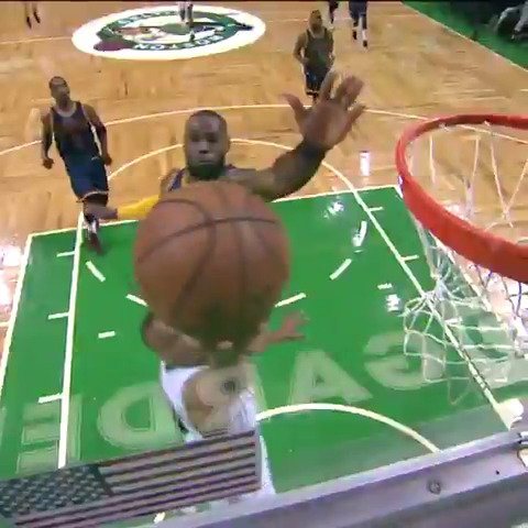 LeBron James​ turns on the boosters for the chasedown! #NBABreakdown https://t.co/pDc5GA5ZIn