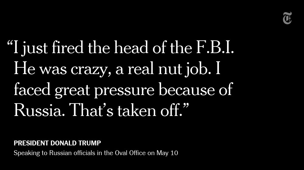 What President Trump told Russian officials about firing James Comey https://t.co/ZOn9BOLsWe https://t.co/kKbaGQ7Pgt