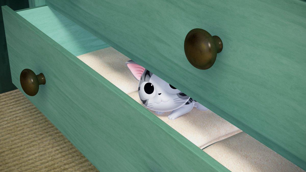チーらよ!あちた はチーのアニメ 33カイメ「チー、かくれる」れす!みんな、みてねー!!みゃー!「こねこのチー ポンポン