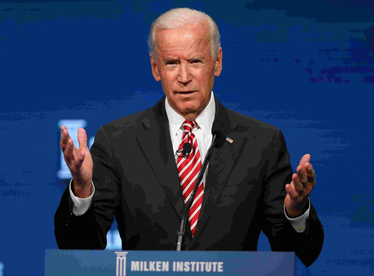 "Former VP Joe Biden says he ""may very well"" run for president in 2020"