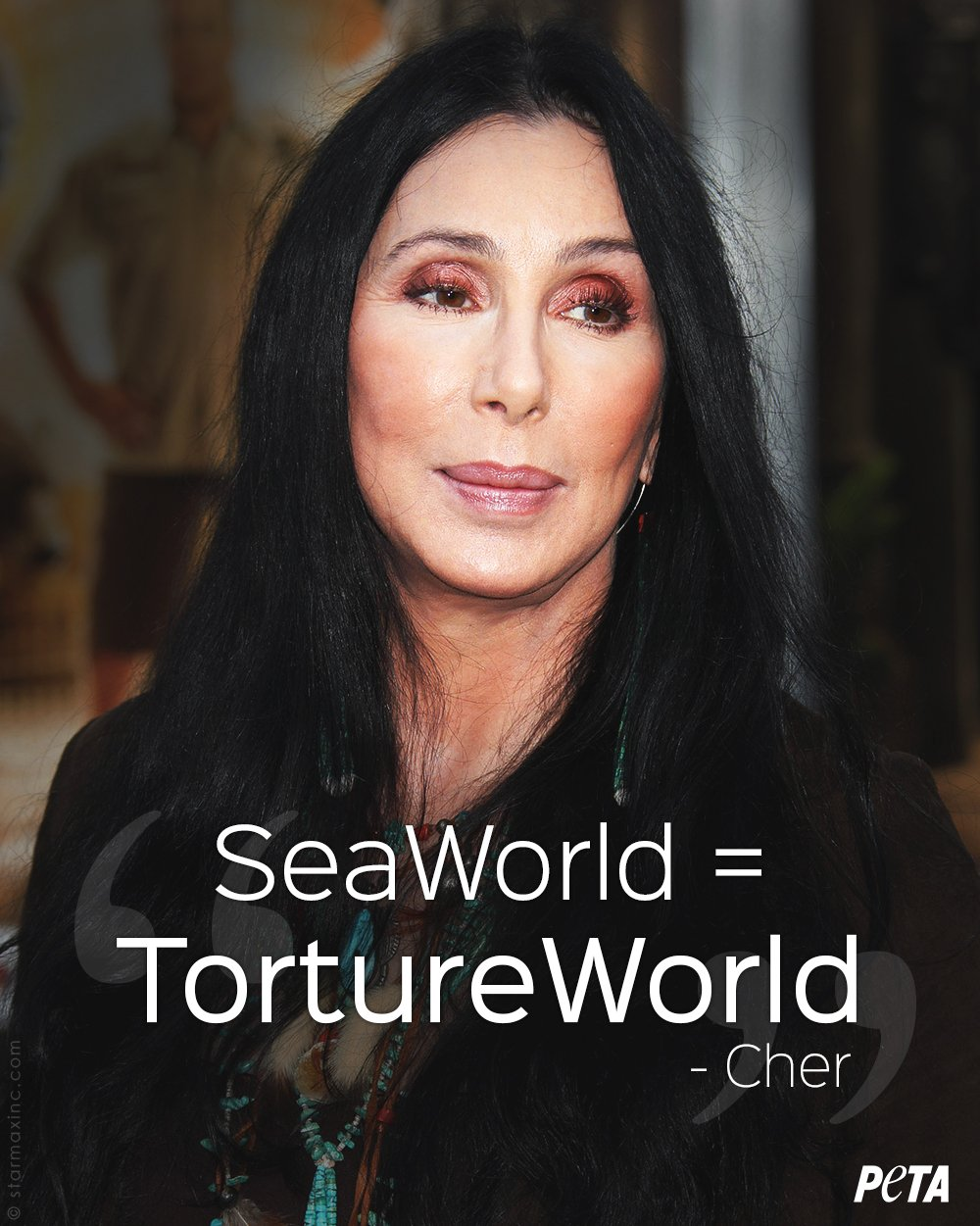 Love her for speaking up for the animals imprisoned at Happy Birthday, to the incredible