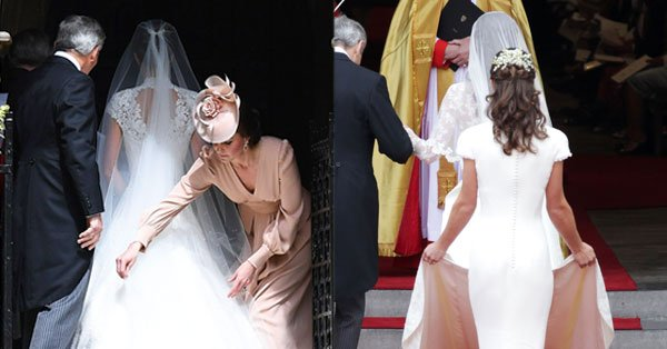On Pippa Middleton's wedding day, big sister Kate Middleton had her back.