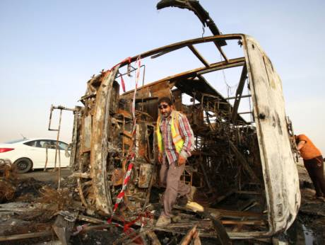 Daesh-claimed suicide bombings kill 35 in Iraq