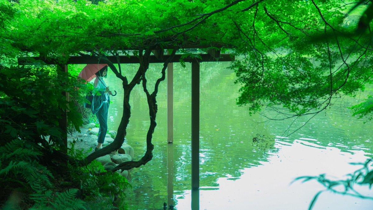 今日は新宿御苑の近くまで行ってたんだけど、言の葉の庭撮影を思い出して、楽しかったなぁ…と思い返していました☺️☂️この時