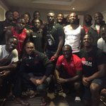 Wanyama gifts the Kenya Sevens team with Sh200,000 ahead of the London Sevens tournament