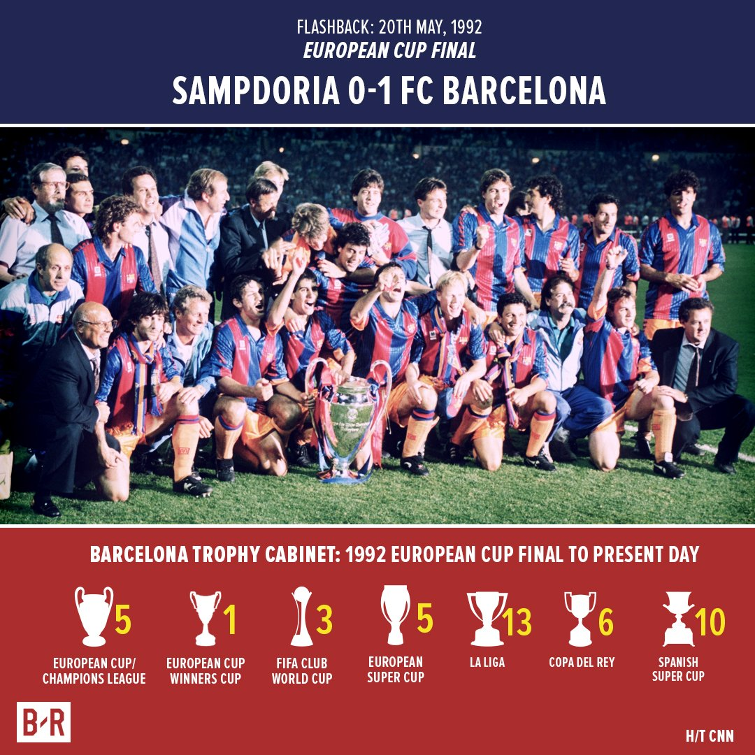 25 Years Ago Today Barcelona Won The European Cup That Followed