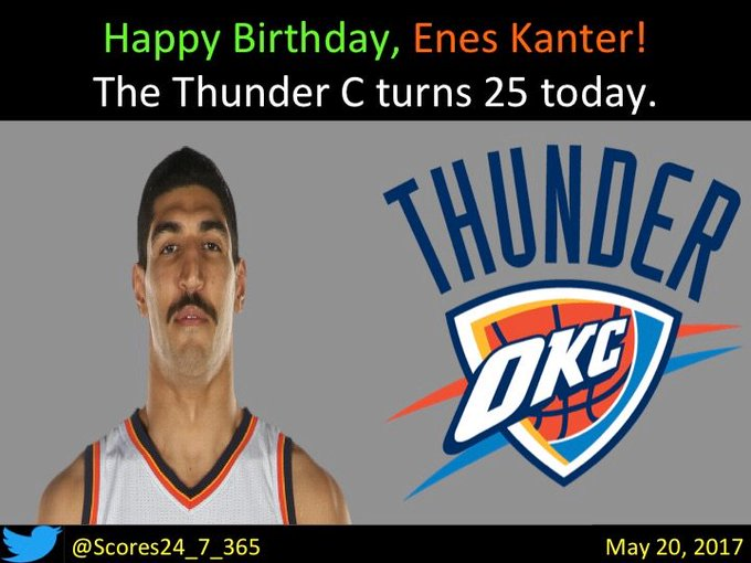 happy birthday Enes Kanter!