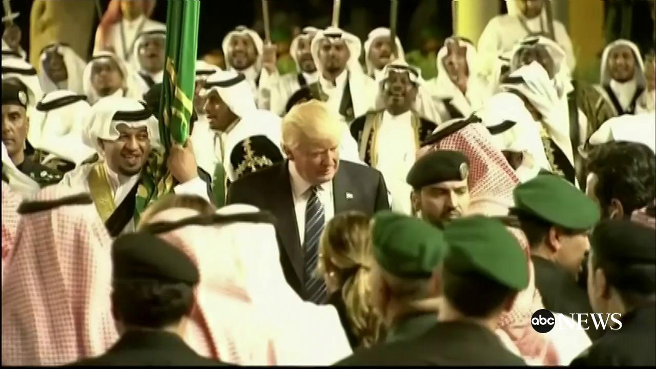 Pres. Trump dances along with boisterous welcome ceremony in Saudi Arabia https://t.co/3tMjbVD7Ly https://t.co/1bjbtGZP1G