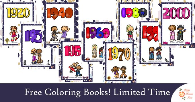 Color through history! Limited time freebies. byb2017 freebie