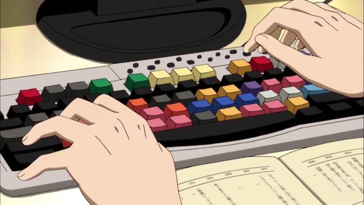 SHIROBAKOの動画編集シーンに出てくるこのキーボード気になる