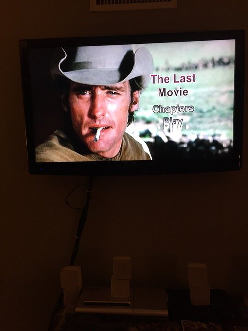 "Happy birthday screening of ""The Last Movie\"" to the Dennis Hopper. Unique. Original. Fearless."