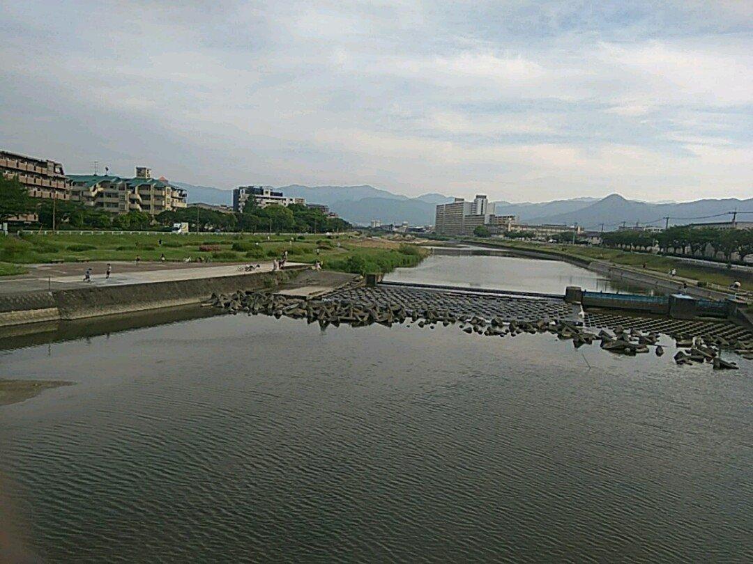 今日のむろみさん、風が心地よい (@ 室見川河畔公園 in Fukuoka, Fukuoka Prefecture)