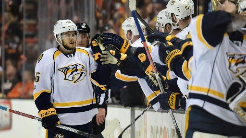 Aberg scores winner as Predators grab NHL series lead