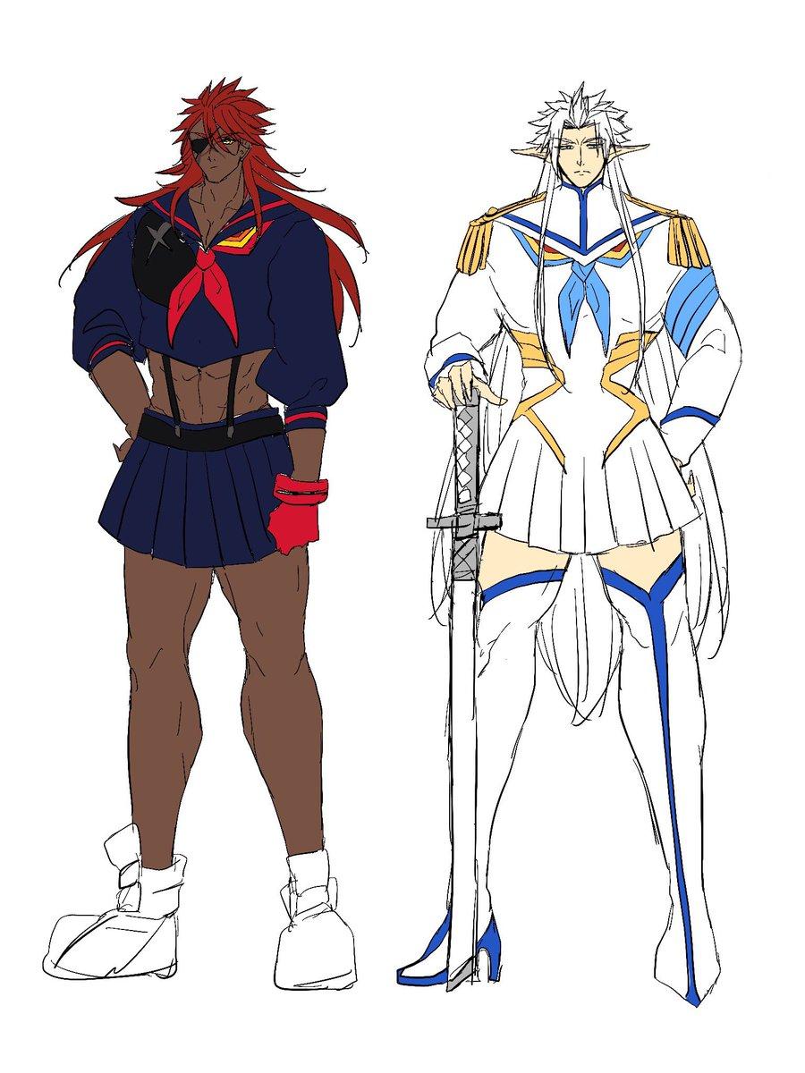 キルラキルの流子なダリウスと皐月なフェリス※女装です