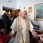 Pope Francis goes door-to-door to bless families in beach town