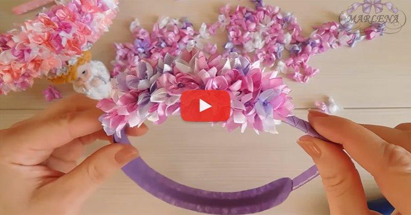 Как сделать цветок из бумаги на ободок 259