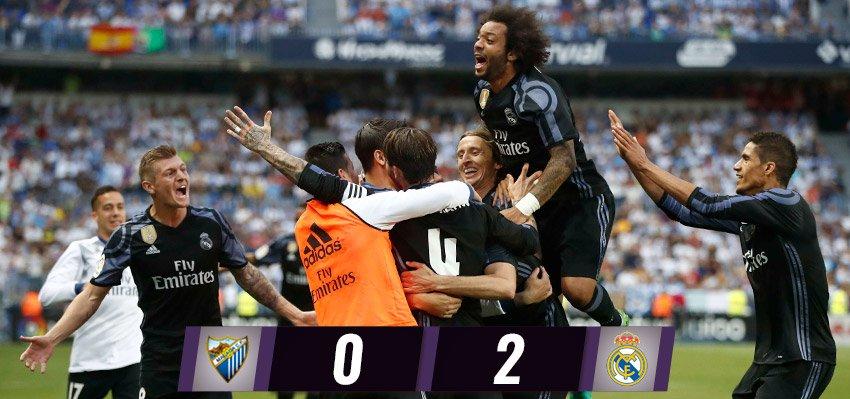 LaLiga CHAMPIONS 🇪🇸🏆 Málaga 0-2 Real Madrid ⚽ @cristiano 2' ⚽ @Benzema 55'#33Ligas #HalaMadrid