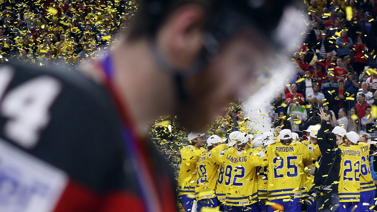Sweden beats Canada in shootout to win world hockey championship