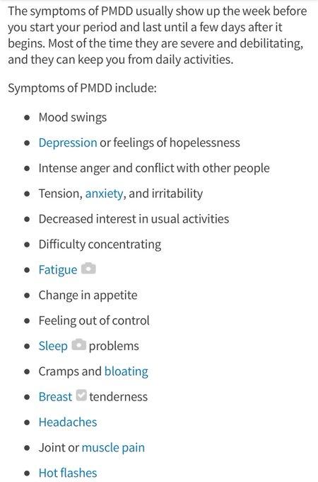 1 pic. PMDD Premenstrual dysphoric disorder https://t.co/jmdYY5hqXo https://t.co/4FEBu0voRD