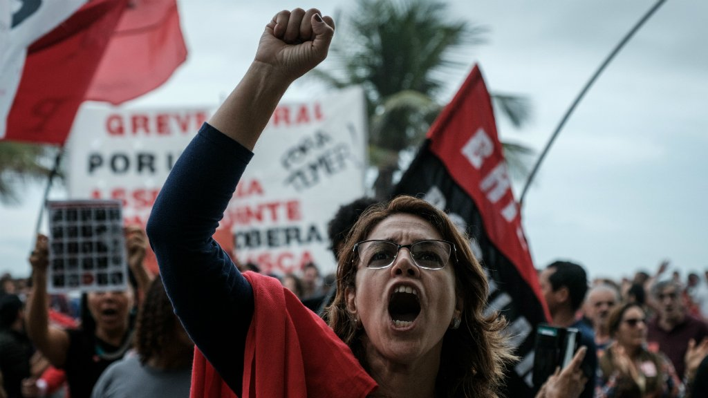 Brazil protesters call for Temer's resignation amid corruption probe