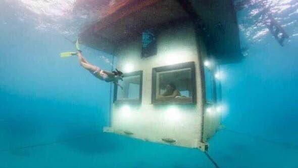 Incredible underwater house