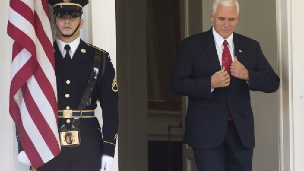 University students walk out of Pence speech