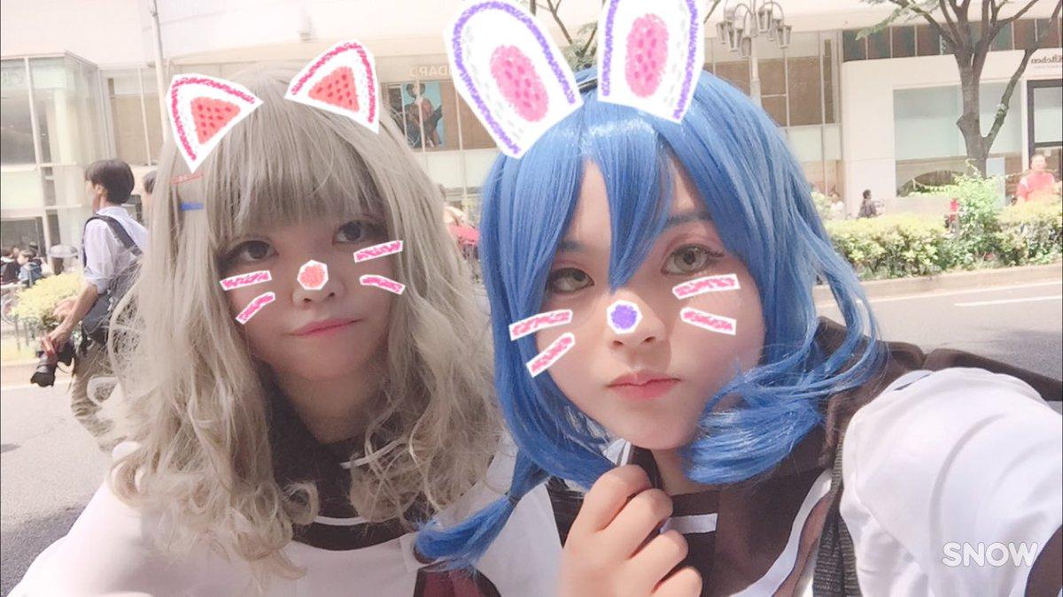 5月21日~ホココス~ゆるゆりの向日葵やってきたよ✨ライバル(大好き)な櫻子と美しい綾乃ちゃんとうろちょろしてました☺️