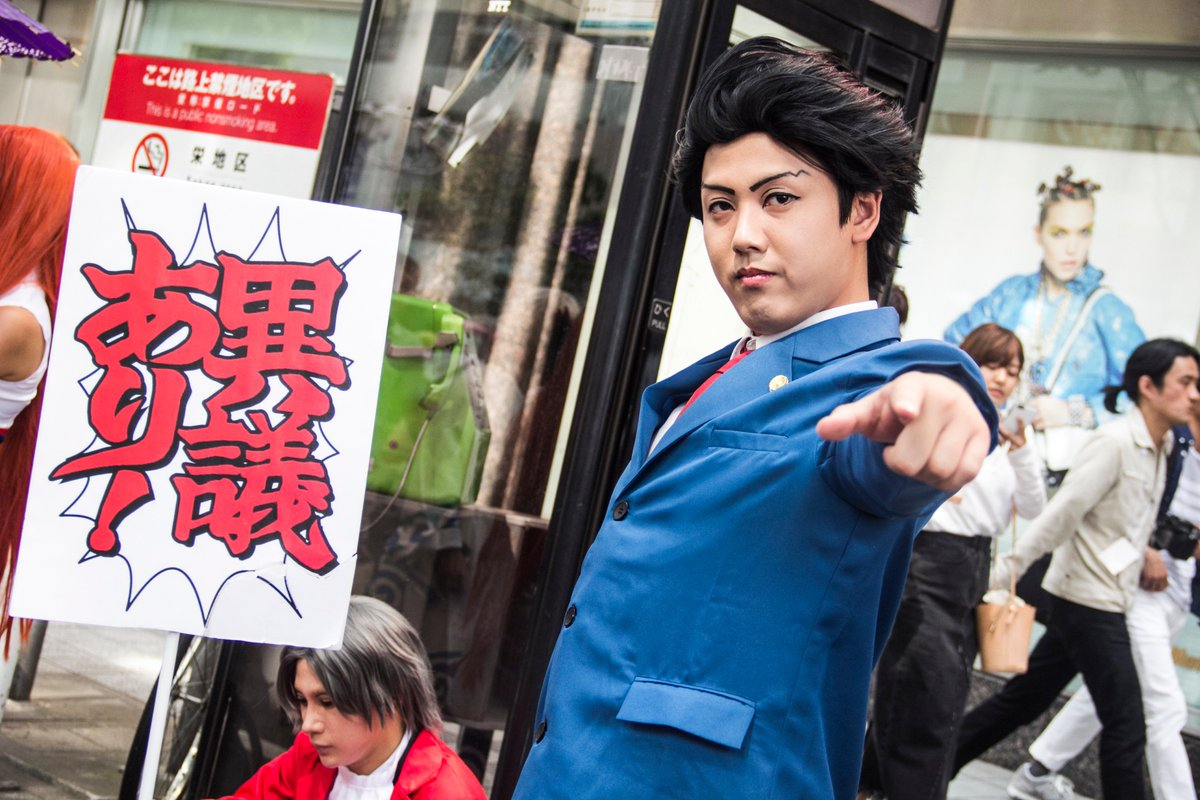 「異議あり!」逆転裁判の三人、残念なのは成歩堂さんと真宵さんを一緒に取らなかったことですね。(今度イベントがあれば夕神検