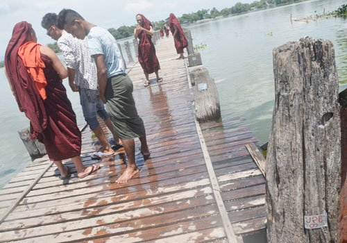 U Bein Bridge in urgent need of repair