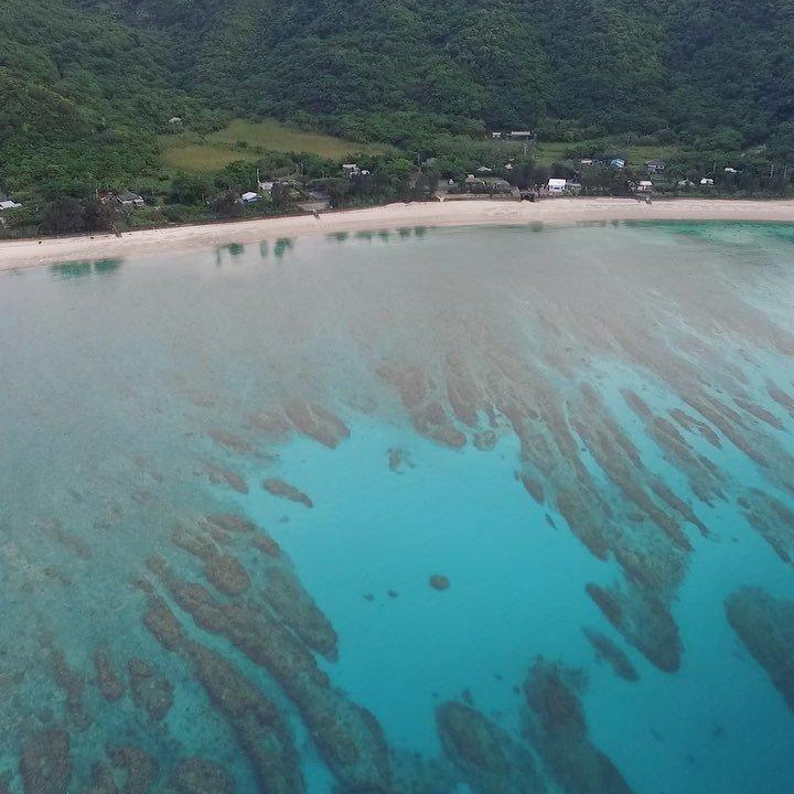 実久海岸@加計呂麻島実久ブルーは最高の透明度!#奄美 #奄美大島 #加計呂麻島 #鹿児島 #ドローン撮影 #空撮 #DJ