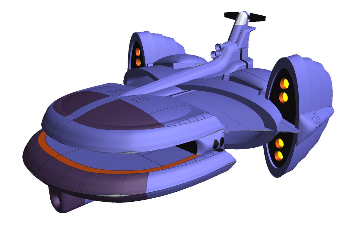 またショボいけど、ボラー連邦の空母っぽい張りぼてできた\(^0^)/てか、こんな形の船をどうやって作ったらよいのか、凄い