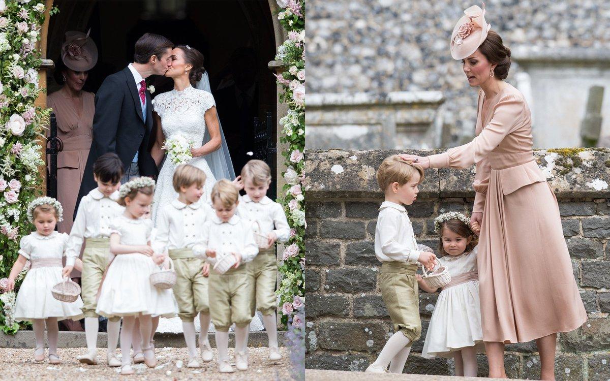 ジョージ王子&シャーロット王女が大活躍❤️ ピッパ・ミドルトンの豪華ウェディング写真集👰