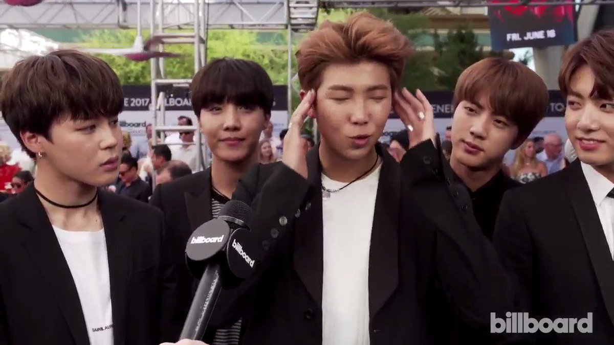 "BTS talks Billboard, their ARMY and their ""firsts"" on the #BBMAs magenta carpet 😎"