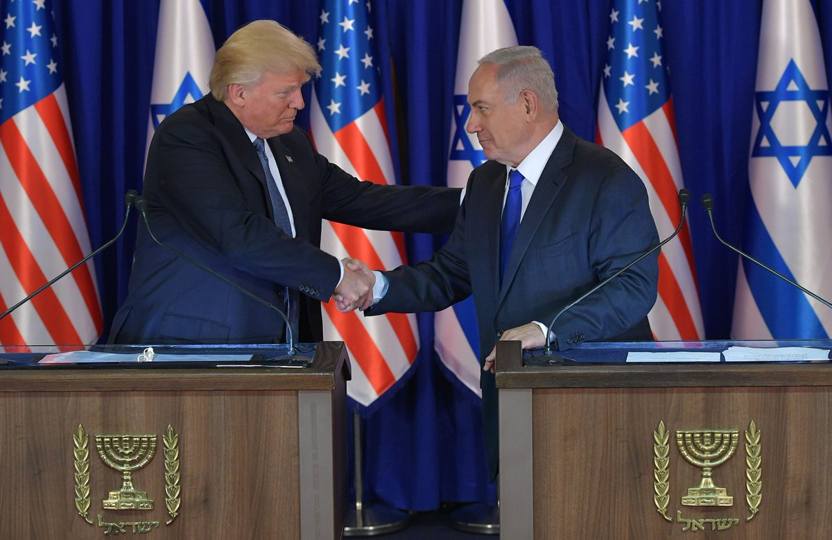 US President Donald Trump says concerns about Iran driving Israel, Arab states closer