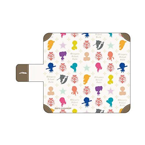 価格3061円 手帳型スマホケース iPhone6専用 ミカグラ学園組曲 04 モノグラム A3 スマホ本体 裏ポケット