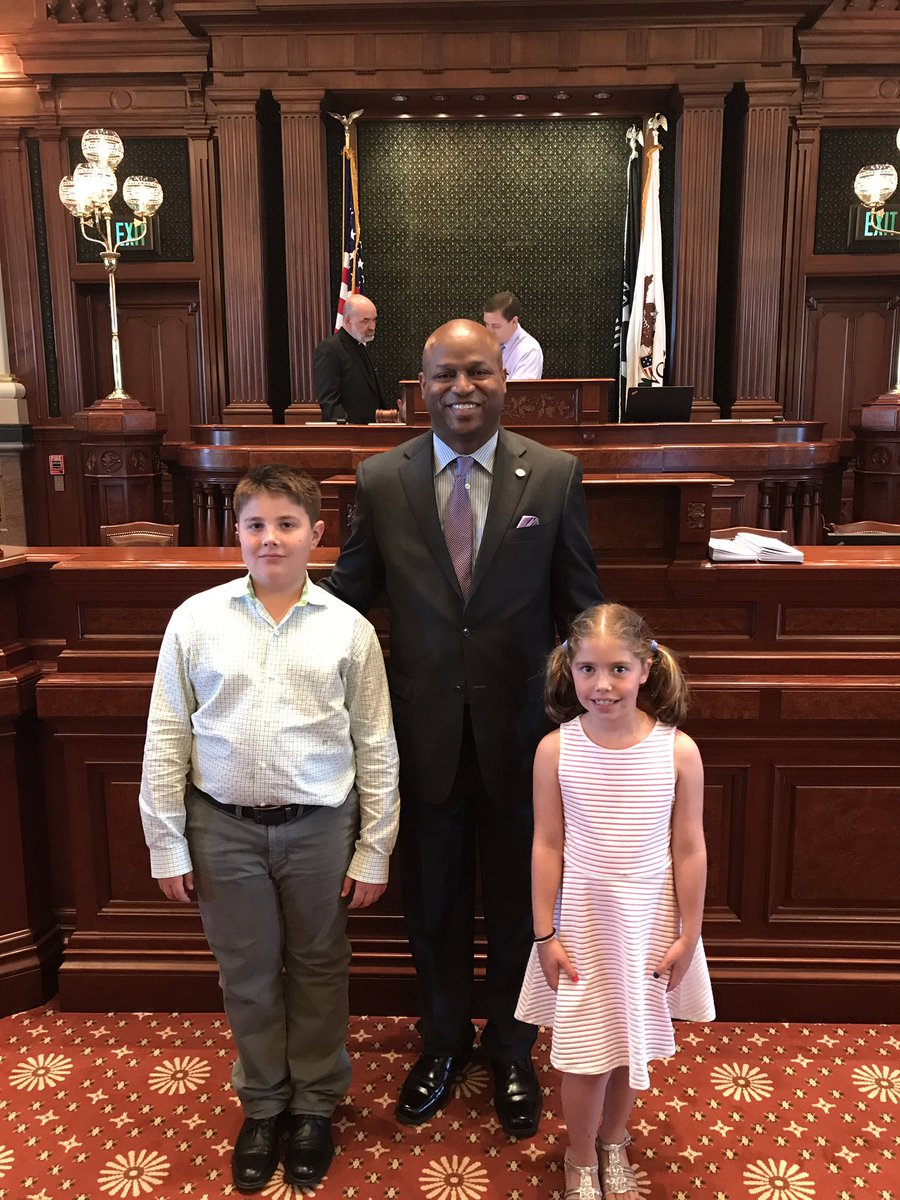 test Twitter Media - Honored to welcome my pages for the day, Yanni and Natalie Gust.  They are so excited to be here in the Illinois House of Representatives. https://t.co/HfgjuxAKjr