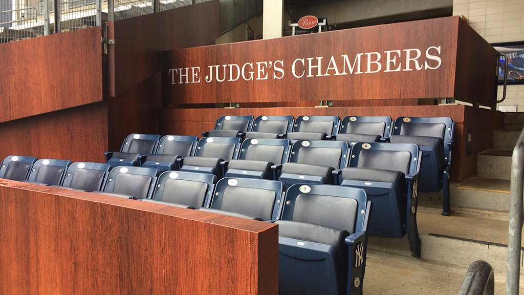 Introducing … The Judge's Chambers. #AllRise   https://t.co/dq612a9HYf (Via MLB Fans) https://t.co/u51112US7k