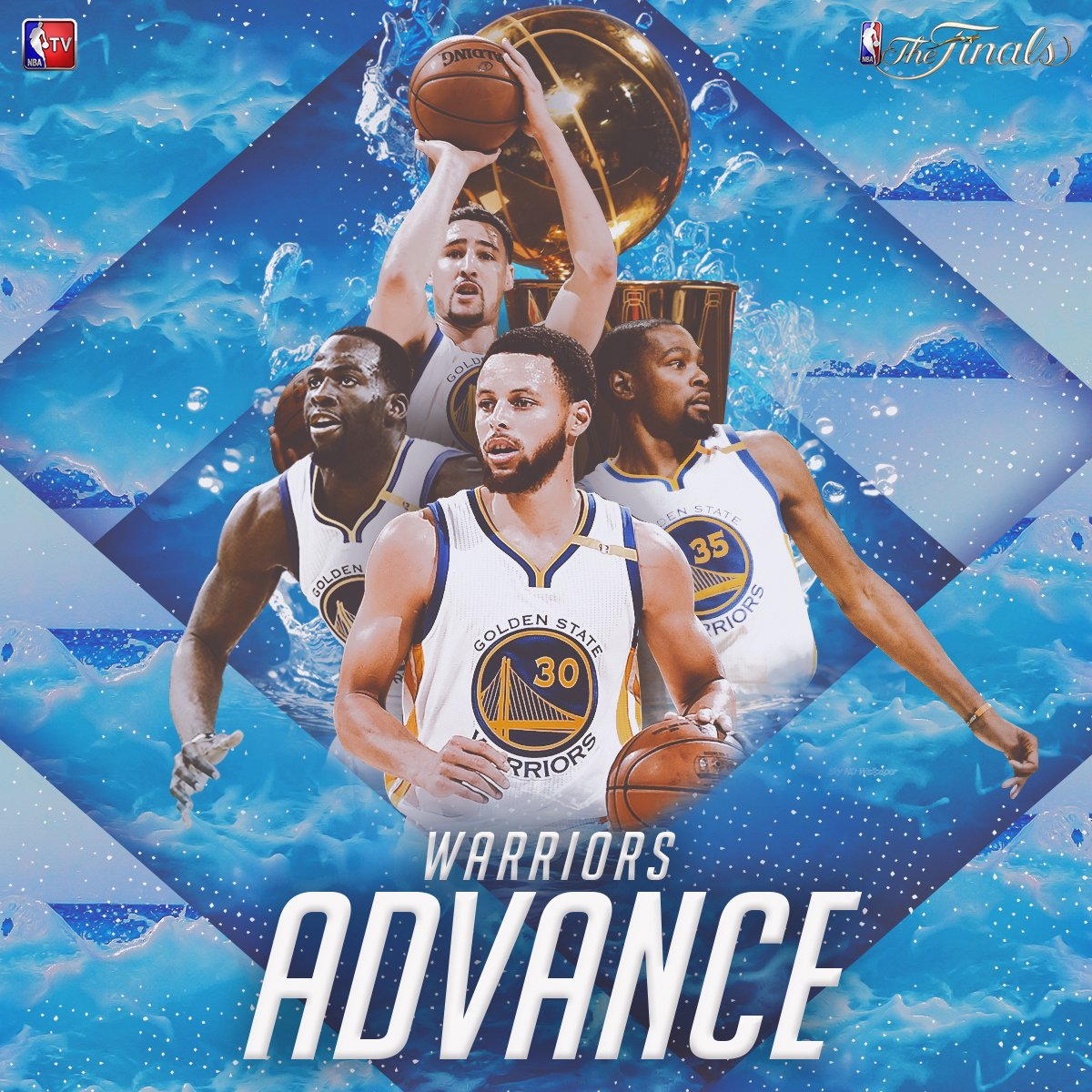 .@warriors are the 2017 Western Conference Champions & advance to their third straight #NBAFinals! 🏆