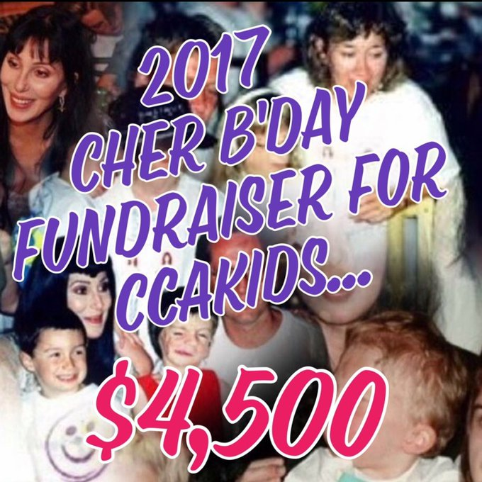 HAPPY BIRTHDAY!!   raised $4,500 this year in HONOR OF YOUR BIRTHDAY for CCAKIDS!