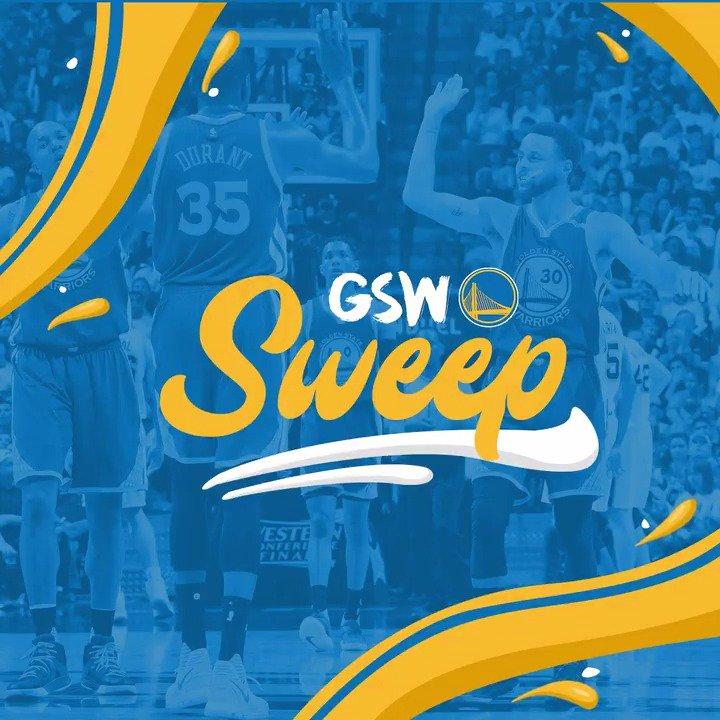 .@warriors sweep San Antonio & advance to their third consecutive #NBAFinals!