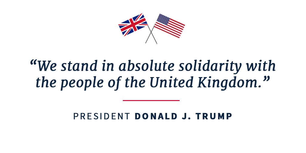 We stand in absolute solidarity with the people of the United Kingdom.