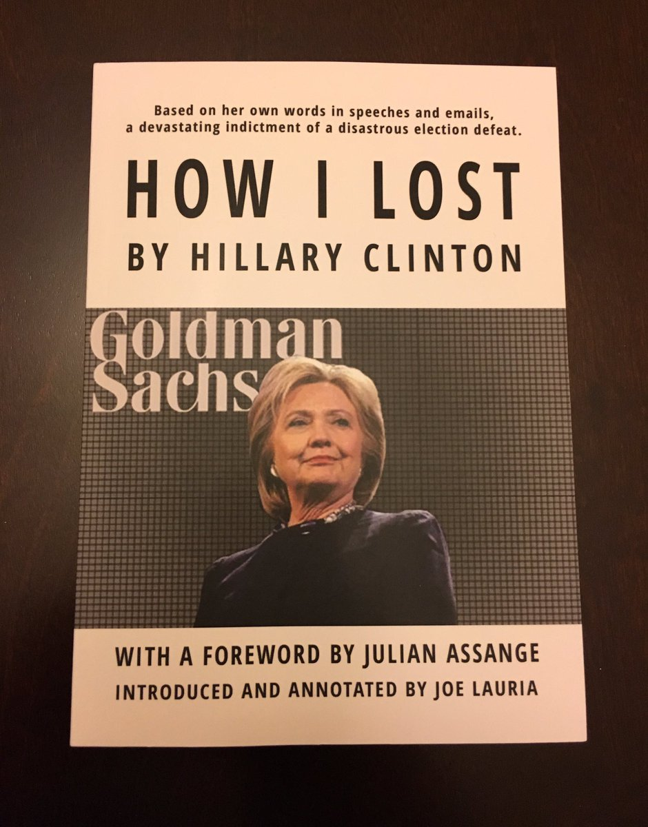 """NEW book: """"How I Lost By Hillary Clinton"""""""