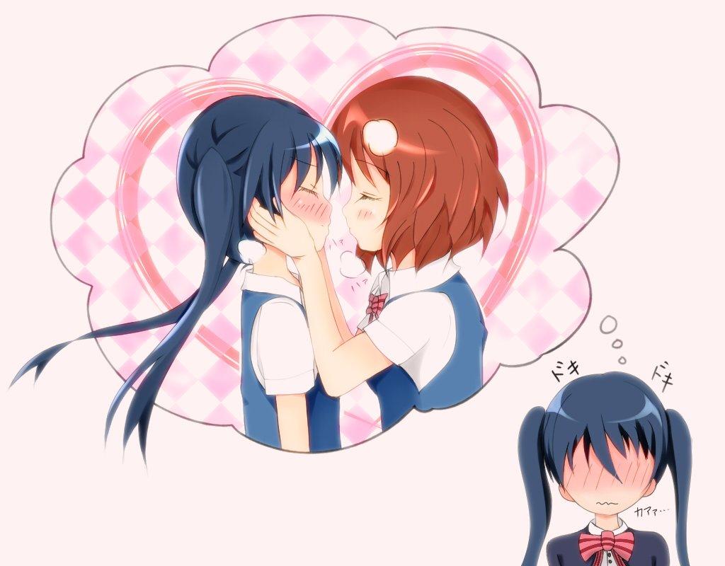 キッ・・・・・キスの日!?ダメよ陽子・・・・・///きんモザ百合しか描けない。。。。w#きんいろモザイク