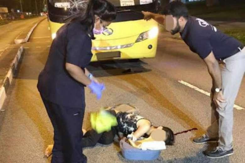 Woman hit by bus along Choa Chu Kang Drive dies