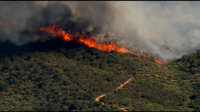 LIVE STREAM: Brush fire burning in Mission Trails Park