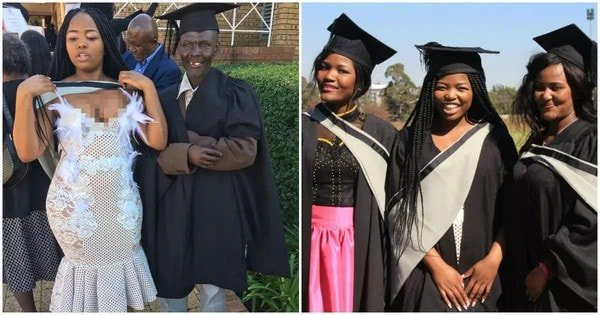 Proud graduate thanks her security guard dad for seeing her through university (photos)