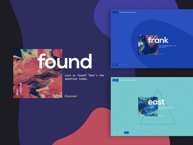 On-Scroll Morphing Background Shapes Code Tutorial Freebie WebDesign Webdev